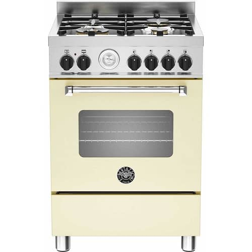 Bertazzoni Master Series MAS60-4-MFE-S-CRE Dual Fuel Cooker