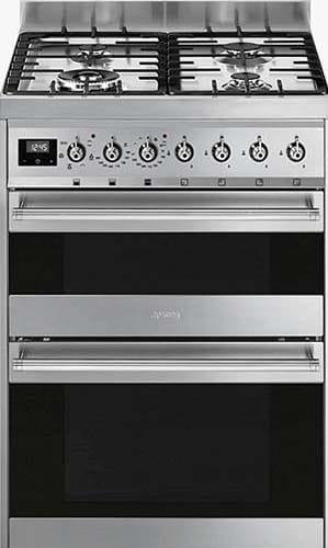 Smeg SY62MX9 Double Dual Fuel Cooker Dual Fuel Cooker