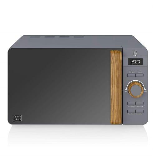 Swan SM22036GRYN Freestanding Microwave
