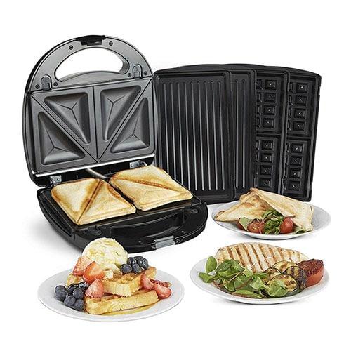 VonShef 3 in 1 Sandwich Toaster