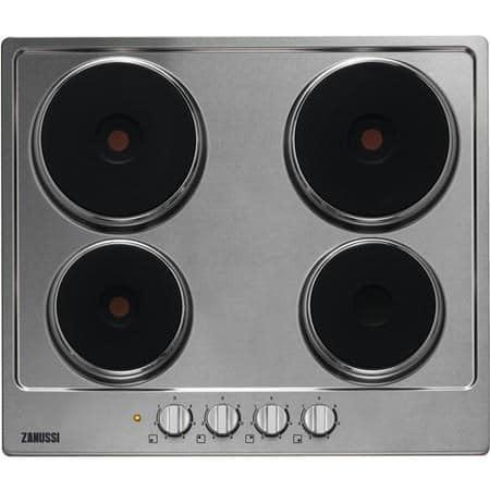 Zanussi-ZEE6942FXS-59cm-solid-plate-hob